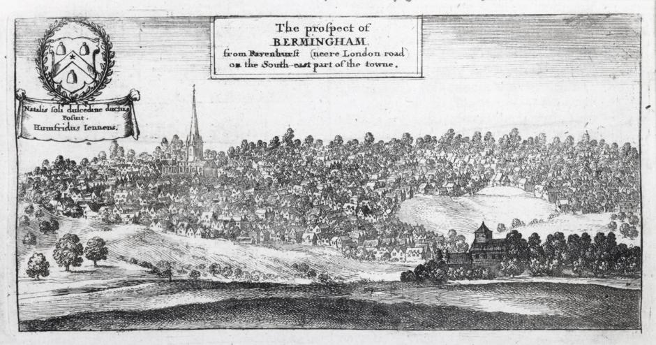 Prospect of Birmingham c. 1730 Birmingham Museums Trust CCO.