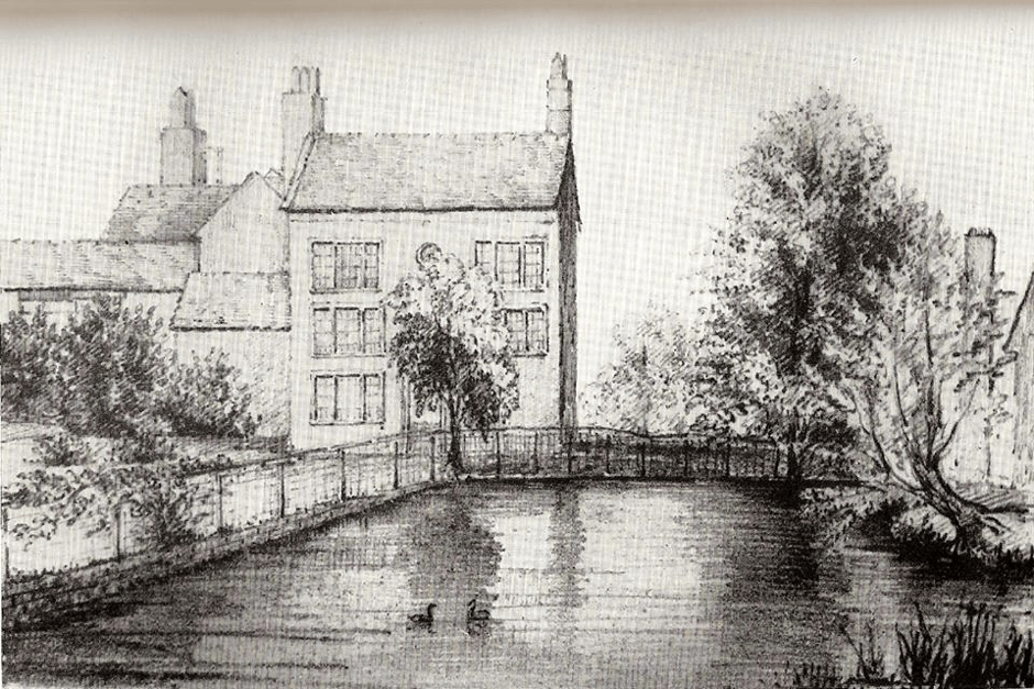 Sketch of Penns in 1817, from the works of Baron Dickinson Webster Jnr.