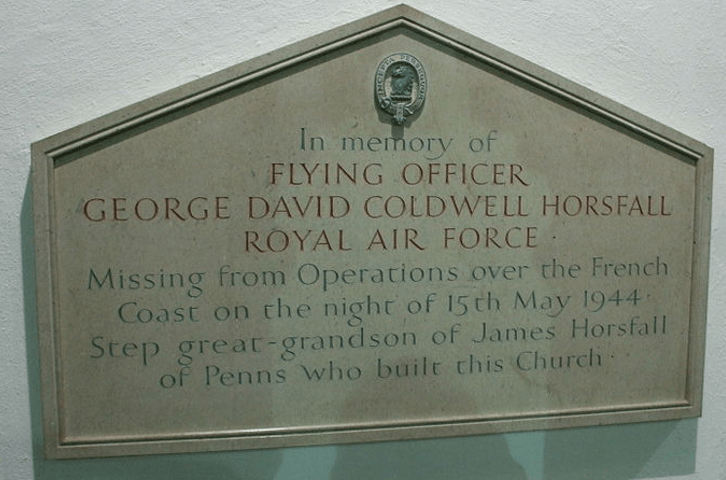 The memorial inside St. Cyprian's church, Hay MIlls